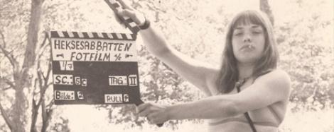 Fra innspillingen av Heksene fra den forstenede skog (1976, Bredo Greve).